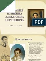 Пушкин презентация