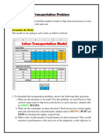Developing an Excel Spreadsheet Program to Solve Transportation Problems