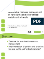 SUSTAINABLE RESOURCE MANAGEMENTOF RARE EARTHS AND OTHER CRITICAL METALS AND MINERALS-OAKDENE HOLLINS