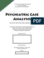 Psychiatric Case Analysis Template