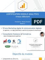 CERTIFICATION ANALYTICS COURS 1+2