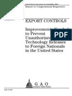 GAO Export Controls Feb 2011