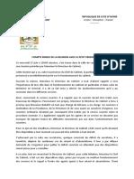 COMPTE RENDU DE LA REUNION AVEC LE PETIT PERSONNEL