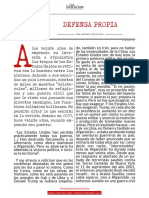 DEFENSA PROPIA - Antonio Caballero