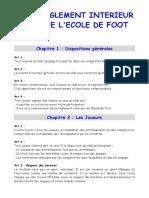 Reglement interieur de l'ecole de foot__o3ff44