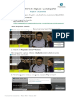 MyLab Math_ Registro de estudiantes _ Manual 2020