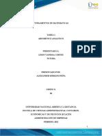Anexo -Tarea 1– Aritmético analítico