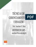 Tecnicas Gerenciais para Usinagem_aula prof Anselmo