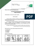 6º ano Língua Portuguesa-Avaliação Diagnóstica 2021 6º ano- Ensino Fundamntal