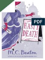 Hasty Death - M.C. Beaton