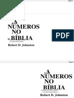 , OS NÚMEROS DA = BÍBLIA