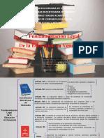 FUNDAMENTACION LEGAL EDUCACION.