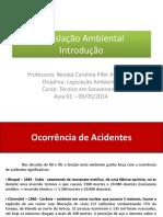 Aula 09-05-2014 Introdução - Questões Ambientais e Legais