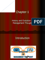 History & Evolution of Management Thought