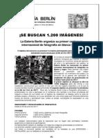 BASES CERTAMEN-INSTALACIÓN FOTOGRAFIA GALERÍA BERLIN-NIT DE L'ART 2011