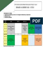 HORARIO GENERAL 2021 - I Abel Bendezu
