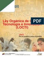 Ley Orgánica de Ciencia, Tecnología e Información-2010