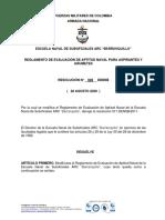 1. REGLAMENTO APTITUD NAVAL PARA ASPIRANTES Y GRUMETES RESOLUCIÓN 028-DENSB-2020