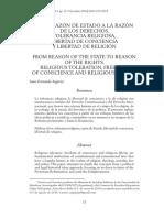 De la razón de Estado a la razón de los derechos - Juan Fernando Segovia