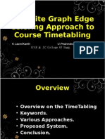 Bipartite Graph Edge Coloring Approach to Course Timetabling