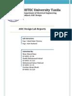 ASIC Design Lab Reports