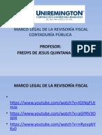 PRESENTACION MARCO LEGAL DE LA REVISORIA FISCAL CONTADURÍA PÚBLICA FACULTAD DE CIENCIAS