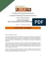 Convocatoria Sexto Congreso de Estudios Bolivianos, Sucre