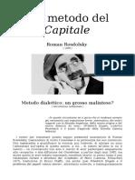 Roman Rosdolsky - Sul metodo del 'Capitale' (1968)