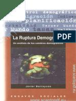 La ruptura demográfica. Un análisis de los cambios demográficos (cap. IV) - Javier Barraycoa