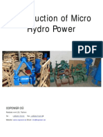 Intruduction of Micro Hydro