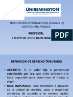 PRESENTACION TRIBUTACION INTERNACIONAL CONTADURÍA PÚBLICA FACULTAD DE CIENCIAS