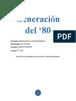 INFORME GENERACIÓN DEL '80
