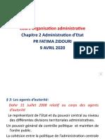 Séance Du 9 Avril Cours Organisation Administrative - Copie