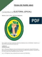 Reglamento Electoral (Oficial) _ Frente de Defensa de Padre Abad