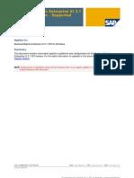 BusinessObjects Enterprise XI 3.1 SP2 for Windows – Supported Platform