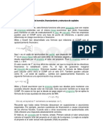 Decisiones de Inversión, Financiamiento y Estructuras de Capitales