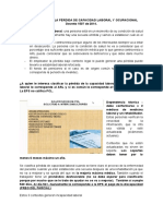 CLASIFICACIÓN DE LA PÉRDIDA DE CAPACIDAD LABORAL Y OCUPACIONAL