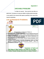 Sample Research Problems (1)