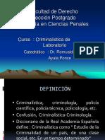 Criminalistica y disciplinas