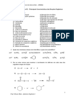 Lista 3 - Principais Características das Reações Orgânicas