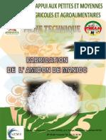 Fabrication de amidon de manioc