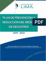 Plan de Prevencion y Reduccion Del Riesgo de Desastres