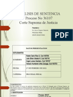 Analisis de Sentecia 36107 Csj Procesal Penal