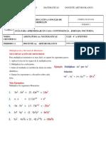 MATEMÁTICAS  CLEI 4A OYENTES   GUIA 1 PERIODO 2