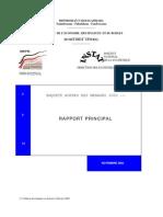 Enquête prioritaire auprès des ménages 2002 - Rapport (INSTAT/2003)