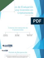 Criterios de Evaluación de Una Inversión en Criptomoneda