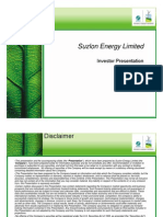 SuzlonEnergyLimitedInvestorPresentation1