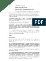Instrução Normativa 50 de 04 de janeiro de 2011 COMPENSAÇÃO PREVIDENCIÁRIA