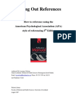 How to Reference Using the APA Format