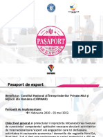 Prezentare Pașaport de Export